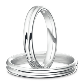 CHIARO Dual Line Marriage Ring